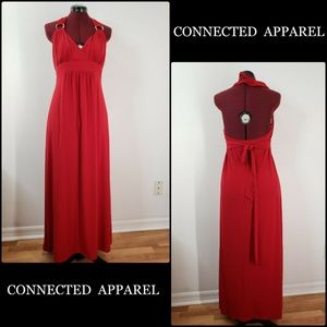 Connected Apparel Women Backless Maxi Long  Dress